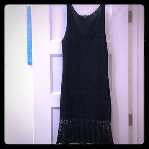 Knitted Black Linen Dress